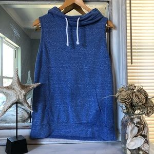 Derek Heart Sleeveless Cowl Neck Sweatshirt